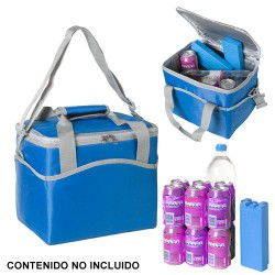 Nevera-bolsa térmica azul 20 ltrs.