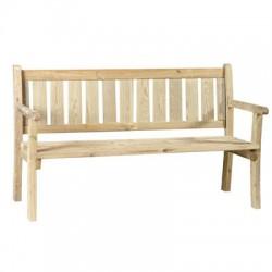 Banco de jardín en madera tratada