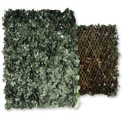 Seto artificial celosía extensible hojas 1x2 m.
