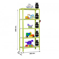 Estantería Homeclick Metal Colour Mini 5/400 SIMON RACK