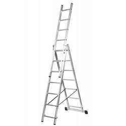 Escalera triple, múltiple con base serie PROFESIONAL