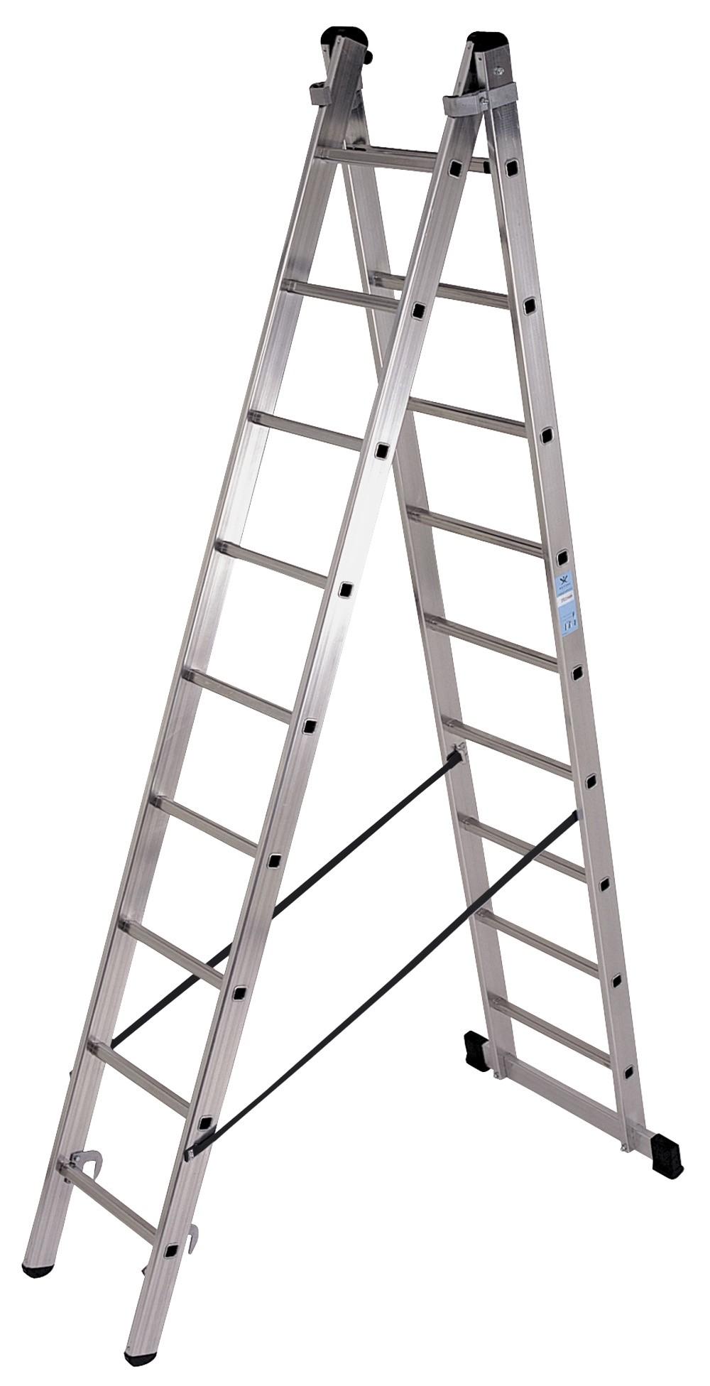 Escalera Plegable del Hogar 3 Niveles en Ambos Lados Capacidad 150 Kg Aluminio GLT23K SONGMICS Escalera de Tijera Escalera de Mano