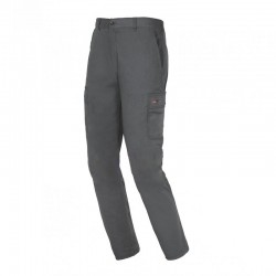 PANTALON ALGODON EASY STRETCH GRIS INDUSTRIAL STARTER