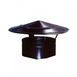 Sombrerete Chino salida de humos, Negro pintura anticalórica