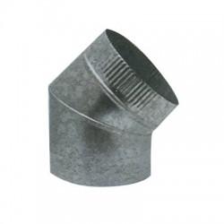Codo para salida de humos, chapa galvanizada 30º-45º