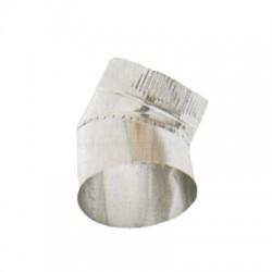 Codo Para Salida De Humos, Acero Inoxidable 0.8 mm 45º