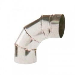 Codo Para Salida De Humos, Acero Inoxidable 0.8 mm 90º